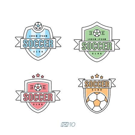 collegiate: Soccer, Football Club icon Template Set