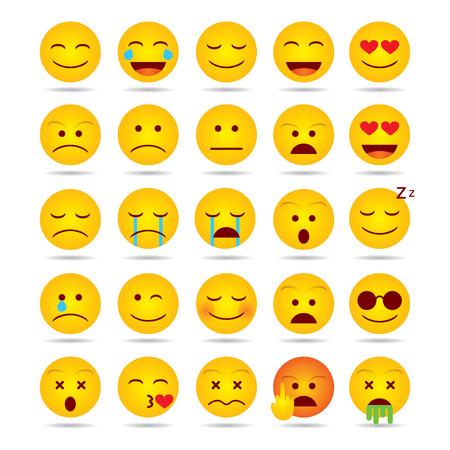 Set of Emoji isolated illustration on white background