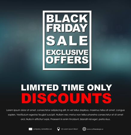 soft sell: Design a poster (banner) Black Friday to sell a soft background and frame for text. Vector illustration.