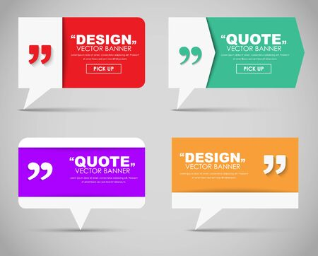 text bubble: Set of  quote bubble and quotes in various shapes. illustration.