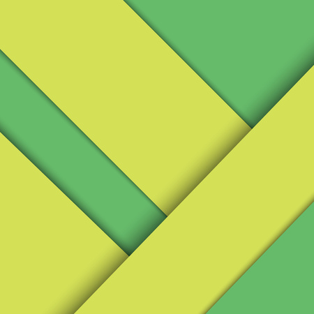 yellow pages: Background for the screen or an interface in the style of the material design with green and yellow pages. Illustration