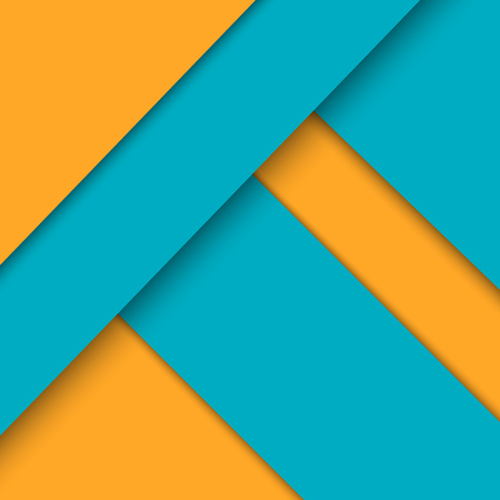 yellow pages: Background for the screen or an interface in the style of the material design with blue and yellow pages illustration