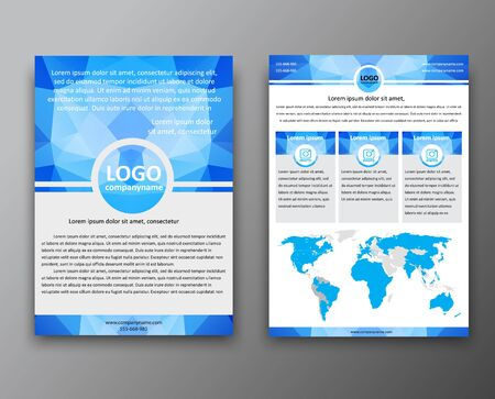 Set Brochure Templates Flyers The Front And Back Of The Page - Information brochure template