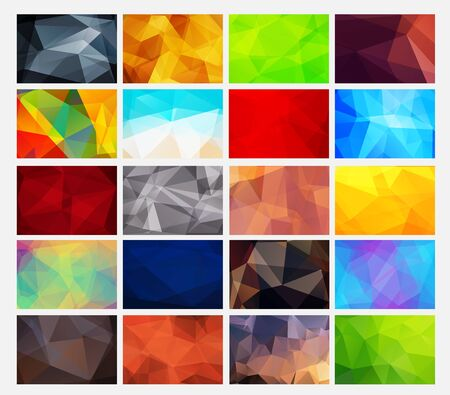 red abstract backgrounds: Templates abstract multicolored polygonal backgrounds for web design. Vector illustration. Set