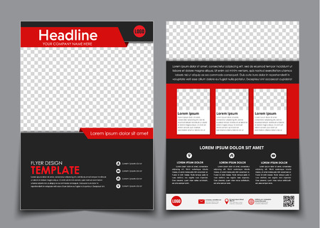 Design Color A4 Brochures Template 2 Page Flyer With A Cover