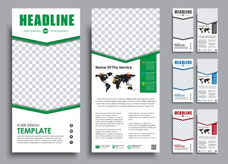 Template Black A4 Brochure With Chrome Elements Design 2 Pages