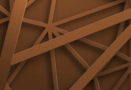 Ontwerp van een vectorachtergrond met draperende oranje metaalstrepen, delen van het netwerk. Futuristische achtergrond sjabloon voor web of afdrukken.