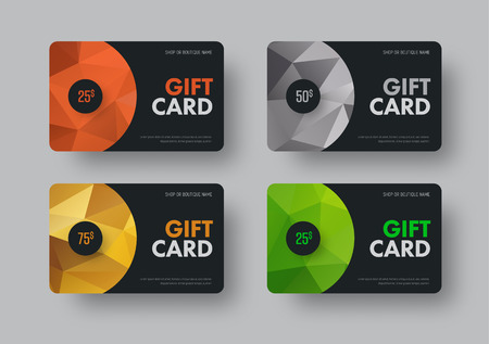 Gift card design Stock Illustratie