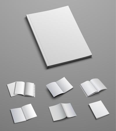 Large vector set of mockup catalog, brochure or booklet, magazine. Templates for presentation of design.