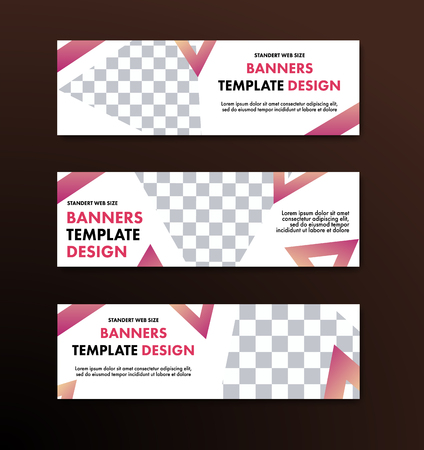 Triangles and space for photo. Template for advertising and business.