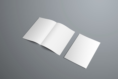 Vector mockup of open bifold brochures and covers. Form for the presentation of design.