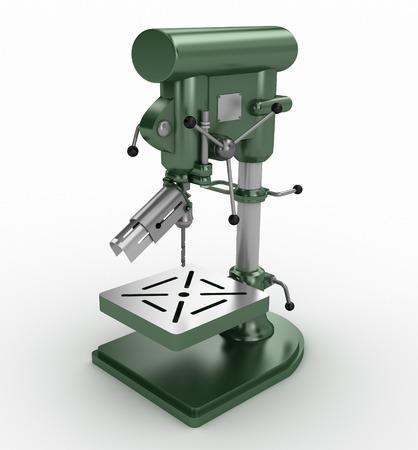 taladro: Perforación Bench Press - aislada en blanco