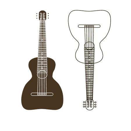 stringed: folk stringed musical instrument guitar.