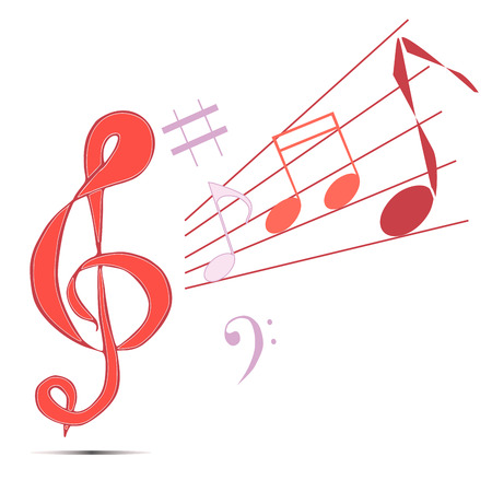 Vector illustration logo for musical signs