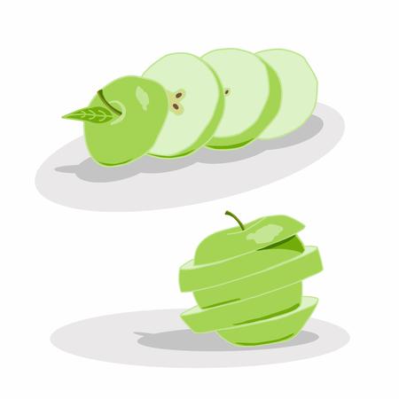 Vector illustration of design for Apple.