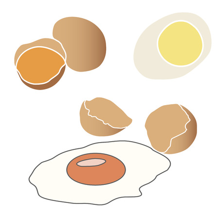 broken eggs: Abstract vector illustration of design for broken eggs