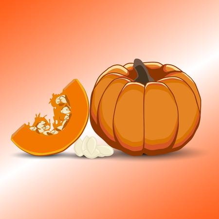 Vector illustration for yellow pumpkin