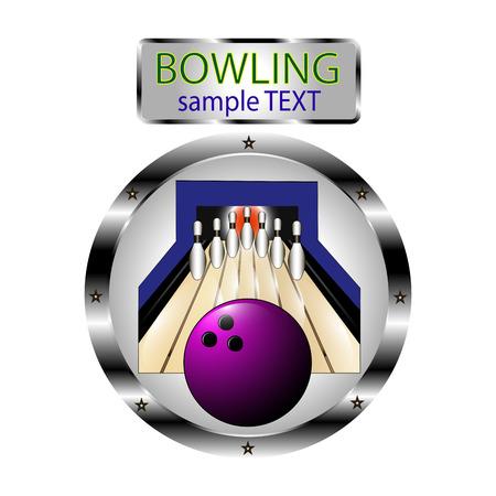 sphere standing: Vector illustration for Bowling Illustration