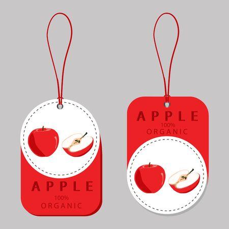 red Apple. Illustration