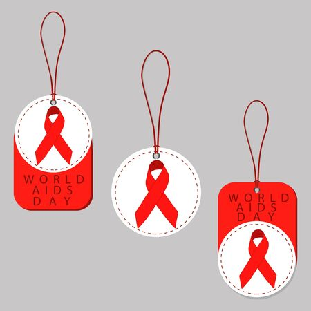 world day of fight against AIDS with red ribbon