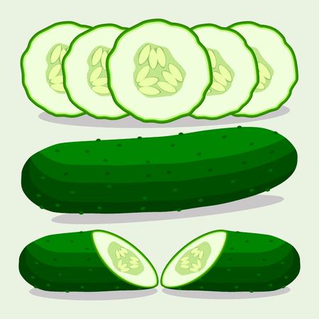 green cucumber Çizim