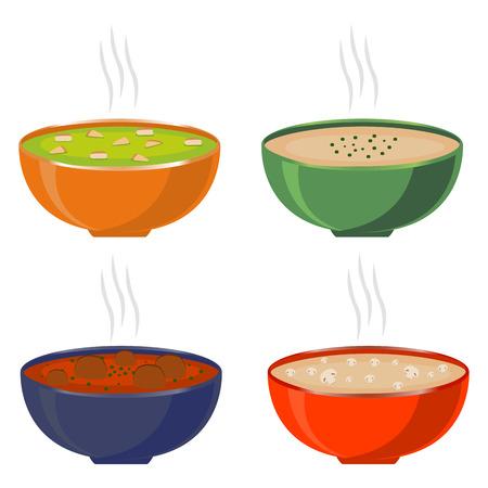 homemade: homemade soups Illustration