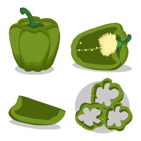Vector illustration of logo for red pepper