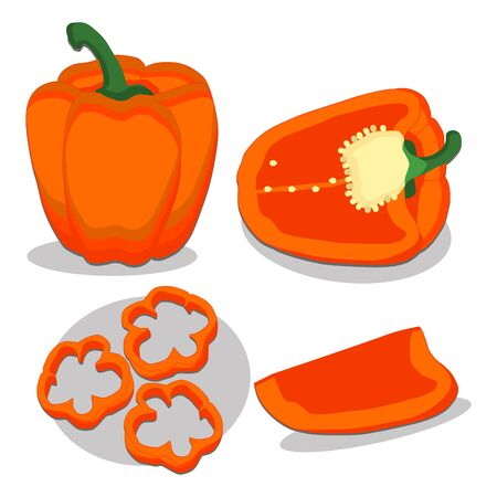 bulgarian: Abstract vector illustration of logo for bulgarian pepper Illustration