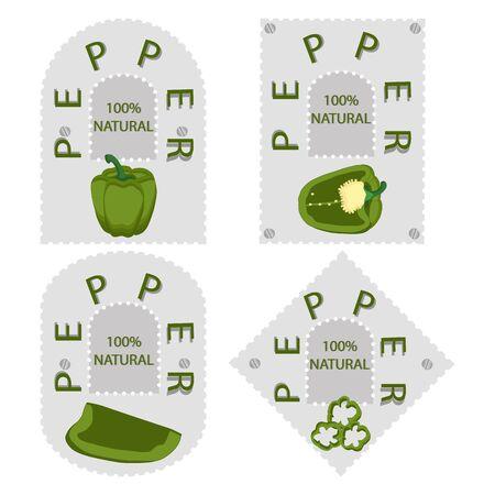 bulgarian: vector illustration of logo for bulgarian pepper