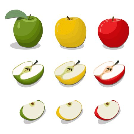 vector illustration of logo for the theme of the fruit Apple