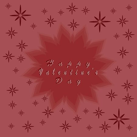 pareja comiendo: Abstract vector illustration of logo for celebration holiday happy St.Valentines day, background.Saint valentine drawing that consists of a symbol red hearts, gift love.Celebrate holidays valentines. Vectores