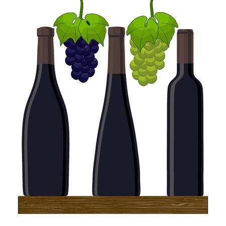 unopened: Wine bottles on white background