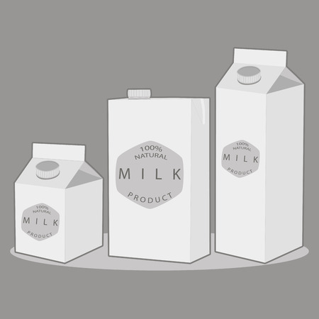 pasteurized: Vector illustration logo for set white milk in bottles, background.Milk pattern consisting of glass jug filled, carton lactic, dairy package, natural product.Drink fresh raw organic liquid milks to health