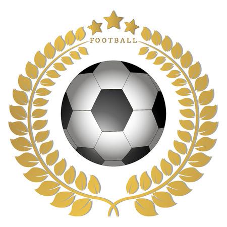 Vector icon illustration of football for football, flying ball soccer background.