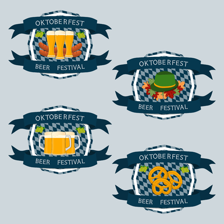 lederhosen: Abstract vector logo for bar banner Oktoberfest.