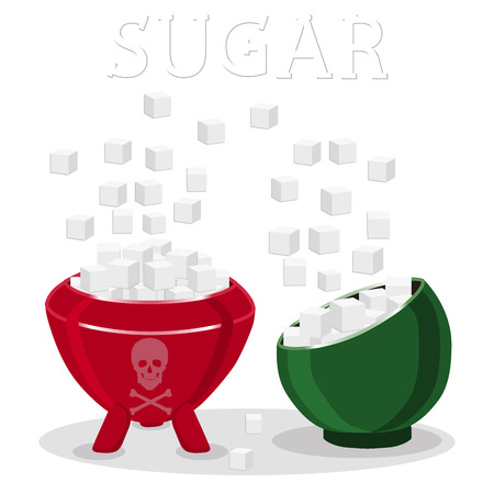Vector illustration of logo for theme sweet crystal sugar. Illustration