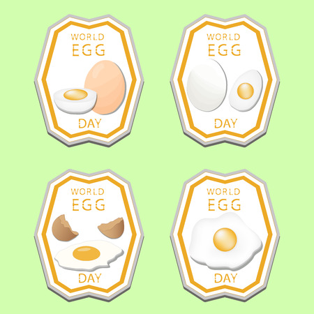 Abstract vector illustration of a white eggs