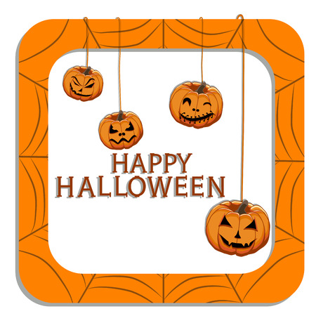 Abstract vector illustration of a Halloween