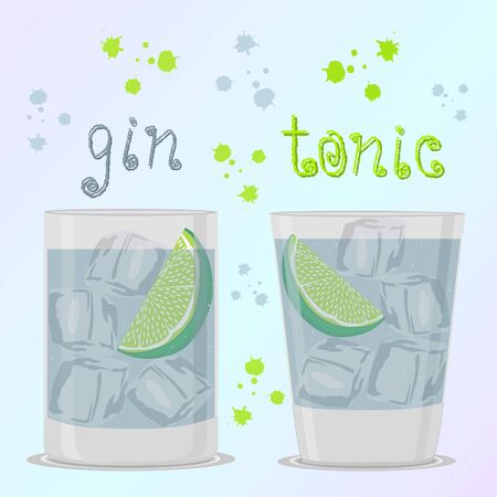 Abstract vector illustration icon for alcoholic cocktails
