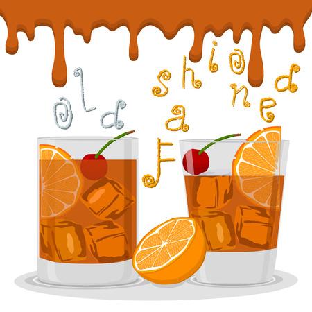Vector illustration  of cocktails