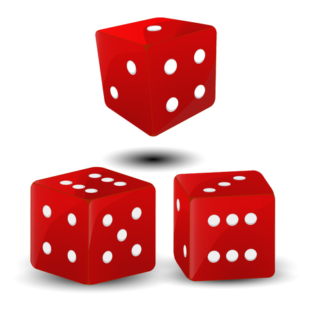 Vector illustration logo for three shiny cube dice casino Illustration