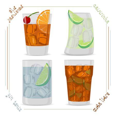 Illustration of alcohol drinks