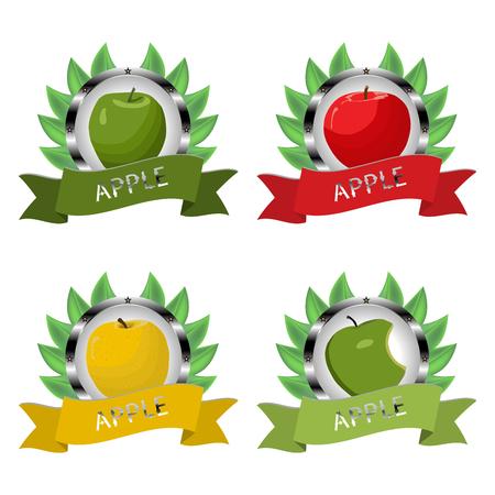 Set of fruits icon.