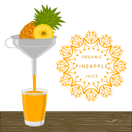 Illustration on theme big set different types yellow tropical pineapple, green stem various size. Pineapple pattern consisting of collection tropical meal for organic beverage. Eat tropical pineapple.
