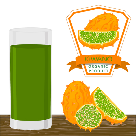 Illustration on theme big set different types african kiwano, green stem, melon various size. Kiwano pattern consisting of collection meal melon for organic beverage. Menu berry kiwano is yummy melon.