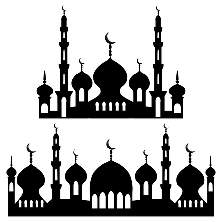 Ilustracja na temat różnych rodzajów meczetów, minaretów do świętowania Ramadanu. Wzór meczetu składający się z dużego zestawu religijnego minaretu Ramadan. Meczet Minaret na szczęśliwy dzień Ramadanu.