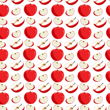 Illustration on theme big colored seamless apple pattern, type of wallpaper for walls. Seamless pattern consisting of collection apples, accessory at wallpaper. Wallpaper from seamless apple pattern.