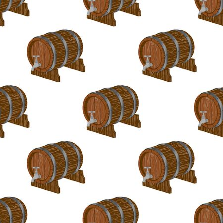 Illustration on theme big colored pattern oktoberfest, german holiday it fest barrel. Pattern consisting of collection fest barrel, accessory for oktoberfest. Fest Oktoberfest pattern from barrel.