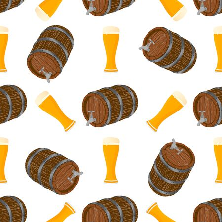 Illustration on theme big colored pattern oktoberfest, german holiday it fest beer. Pattern consisting of collection fest beer, accessory for oktoberfest. Fest Oktoberfest pattern from beer. Çizim
