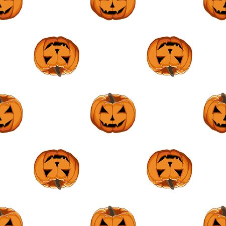 Illustration on theme big colored pattern Halloween, seamless orange pumpkin. Seamless pattern consisting of collection pumpkin, accessory at Halloween. Rare pattern Halloween from seamless pumpkin. 일러스트